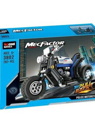 """Конструктор Decool 3802""""Полицейский мотоцикл"""""""