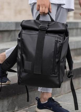 Ролл-топ рюкзак городской мужской wlkr (экокожа)