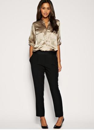 Черные атласные брюки