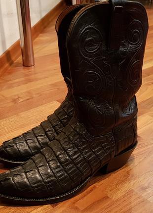 Ковбойские сапоги из кожи аллигатора