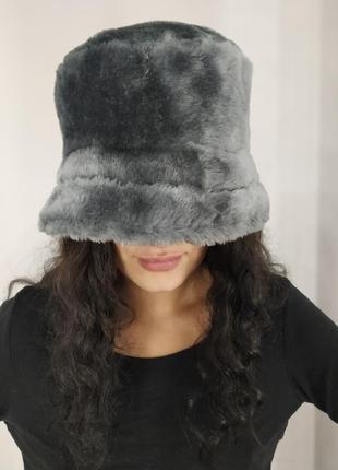 Меховая шляпа панама шапка из искусственного меха