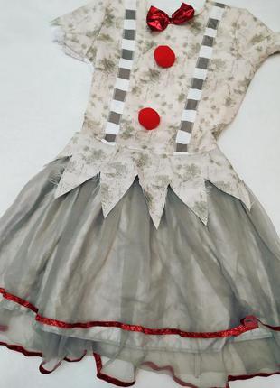 Новогоднее карнавальное платье новогодний костюм клоуна или сн...