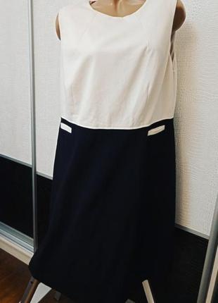 Черно-белое платье boden