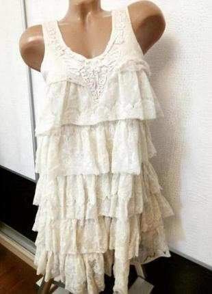 Вечернее кружевное платье rise