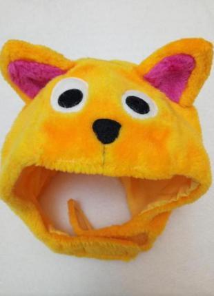 Новогодний карнавальный костюм шапка лисы лисица