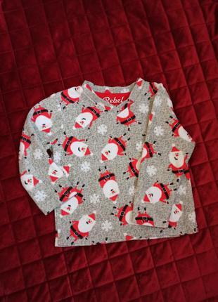 Реглан новогодний, пижама новогодняя кофта