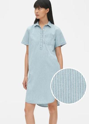 Женское джинсовое платье gap размер платье-рубашка летнее ориг...