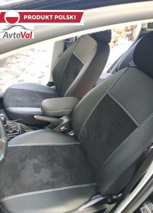 Авто Чехли ЕкоКожа+Алькантара Volkswagen Golf Гольф 4 5 6 Polo
