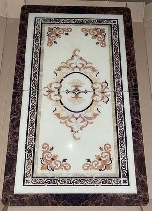 6-060 Обеденный (кухонный) комплект: стол стеклянный и 6 стульев