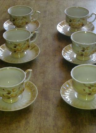 Кофейный набор перламутровый  на 6 персон  Довбыш