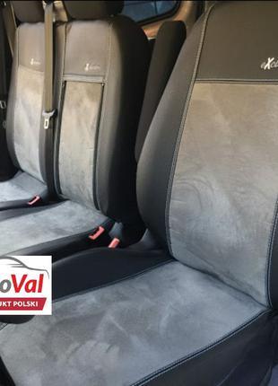Чехли на сиденья ЕкоКожа+Алькантара Peugeot Boxer Expert Пежо ...