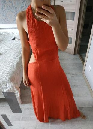 Новое красивое вискозное платье в пол открытая спина