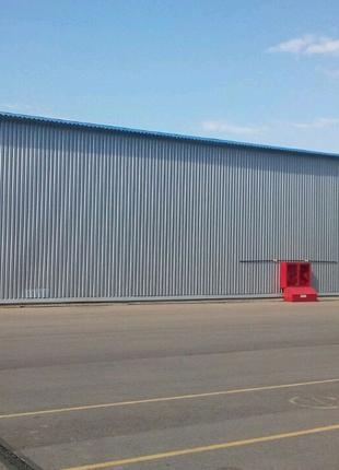 Строительство ангаров, зернохранилищ, складов.