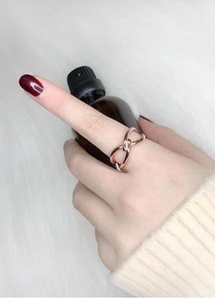 Кольцо с переплетом 16.5, размер можно регулировать