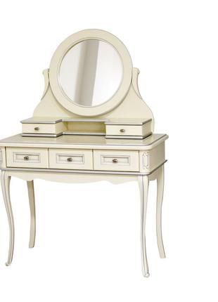 Деревянный туалетный столик Анна с зеркалом