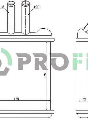 Радиатор печки для Daewoo lanos 97- nubira 97-