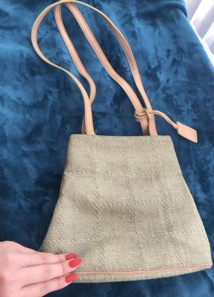 Плетённая сумка трапеция nine west оригинал сша на лето