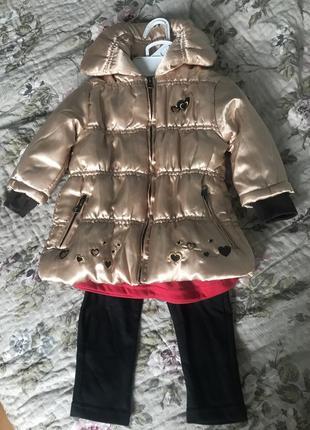 Комплект куртка кофточка штанишки only kids сша для девочки 1 год