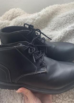 Мужские ботинки демисезонные из кожзаменителя