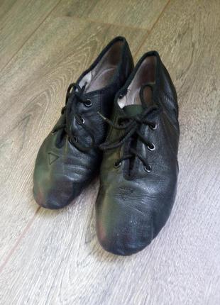 Кожаные черные танцевальные тренировочные туфли обувь для танц...