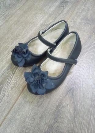 Темно синие кожаные туфли балетки мокасины