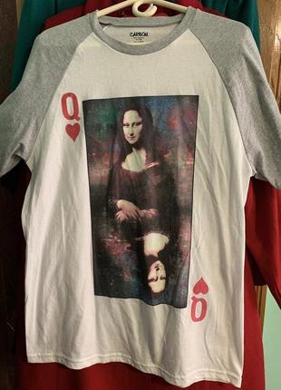 Классная мужская хлопковая футболка джоконда мона лиза космос ...