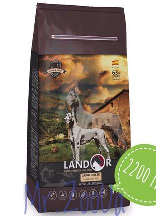 LANDOR (Ландор) взрослые собаки Крупных пород ягнёнок рис 15кг