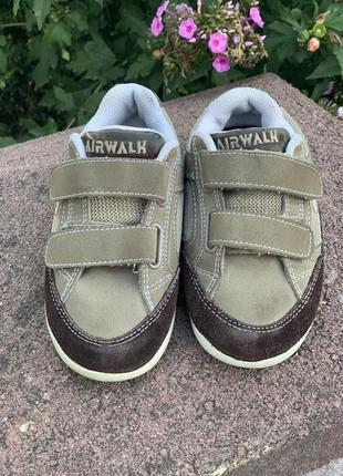 Кожаные кроссовки кеды на липучках airwalk для мальчика