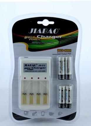 Комплект Зарядное устройство с 4-мя АКБ пальчик тип АА Jiabao JB-