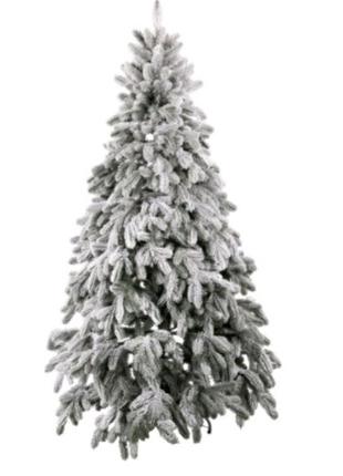 Ель искусственная новогодняя Литая Президентская зелёная снежная