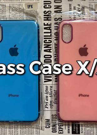 Silicone Glass Case iPhone X/XS силиконовый чехол Apple