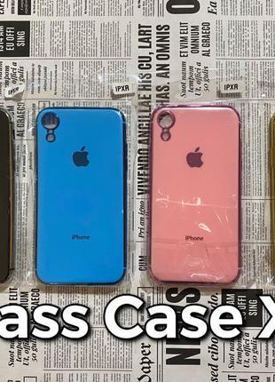 Silicone Glass Case iPhone XR силиконовый чехол Apple