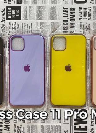 Silicone Glass Case iPhone 11 Pro Max силиконовый чехол Apple
