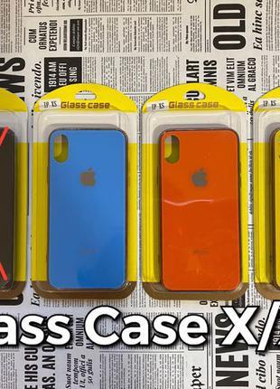 Glass Case iPhone X/XS стеклянный чехол Apple