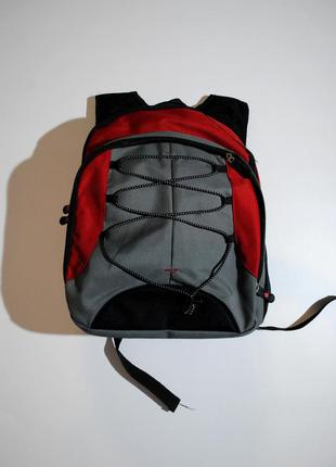 Рюкзак школьный качественный германия красно серый для мальчик...