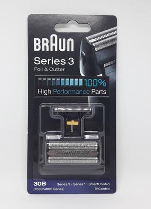 Оригинал сетка и нож для бритвы BRAUN 30B, 30S серии 4000/7000