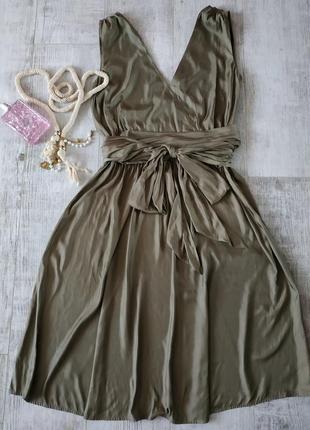Нарядное стильное и легкое платье от caroline biss в цвете хак...