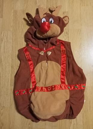 """Костюм новогодний """"олень""""на мальчика 2-4 года."""
