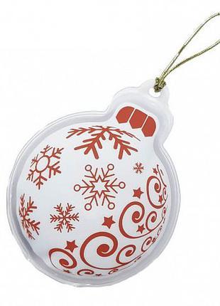 Солевая грелка Елочный шар, солевая грелка на подарок, дельта тер