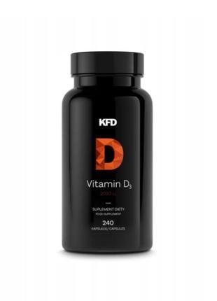 Витамин KFD Vitamin D3 2000 МЕ (240 капсул), Наличие, Наложка