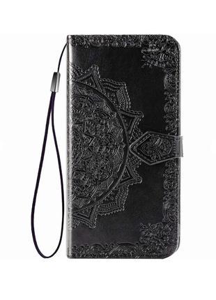 Кожаный чехол с визитницей для Xiaomi Mi CC9 / Mi 9 Lite
