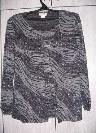 Блузка серая с люрексом tradition