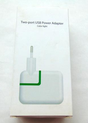Зарядное устройство iPad iPhone 2.1A 2USB 12W box.original