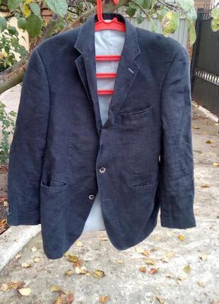 Шикарный льняной дизайнерский пиджак