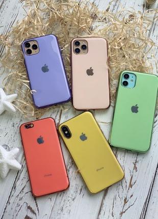 Silicon Glass Case чехол Айфон/iPhone 6 s+ 7 8 Plus X XR Xs Ma...
