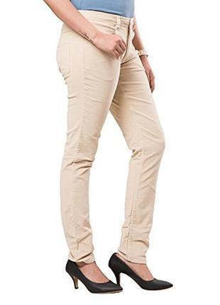 Стрейчевые бежевые женские брюки
