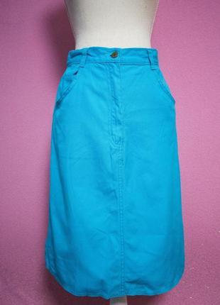 Крутая голубая юбка g.i. с высокой талией