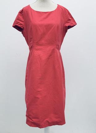 Яркое розовое платье миди