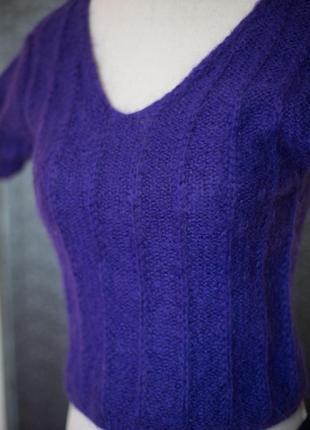 Жилет вязаный фиолетовый