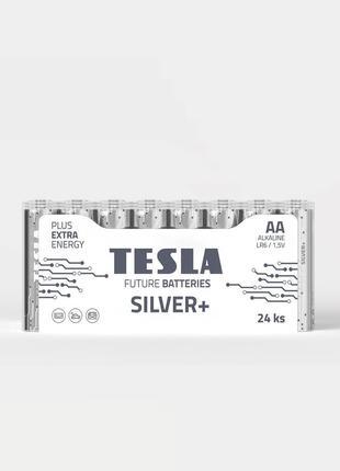Батарейки ААА та АА  TESLA SILVER + (Оригінал) Блістер 24 од.